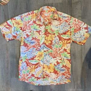 Men's Hawaiian Print Button Down